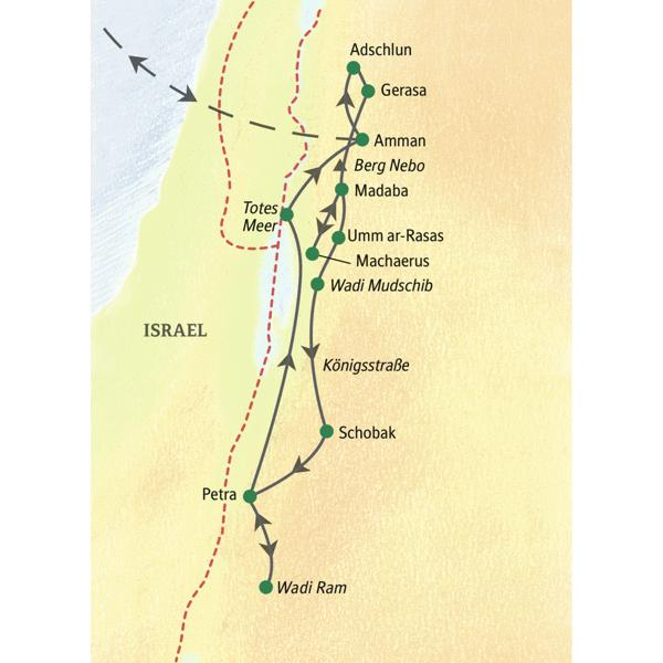 Jordanien gefuehrte Rundreisen 2020