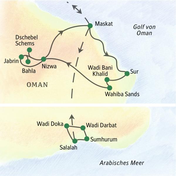 Oman gefuehrte Rundreisen 2020