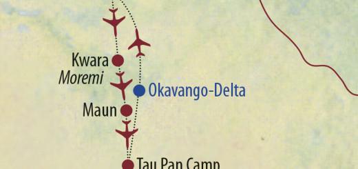 Karte Reise Botswana Botswana intensiv 2021/22