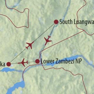 Karte Reise Sambia Naturfotografie in Perfektion 2021/22