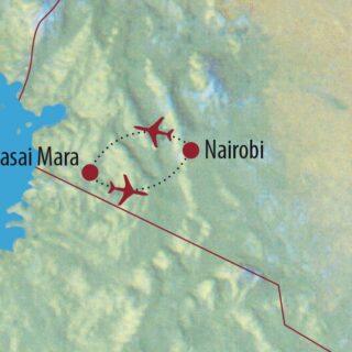 Karte Reise Kenia Olympus-Fotocampus in der Masai Mara 2021/22